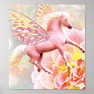 Hada color de rosa del potro póster