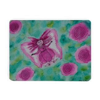 Hada color de rosa imán flexible