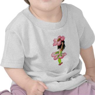 Hada color de rosa salvaje M.T Ross de las hadas d Camisetas