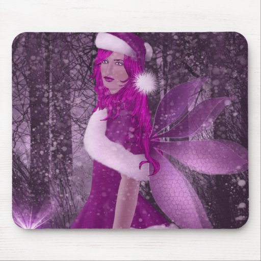Hada color de rosa tapete de ratones