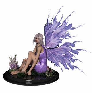 Hada con la escultura púrpura de las alas del mutl escultura fotografica