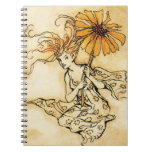 Hada con la flor cuaderno