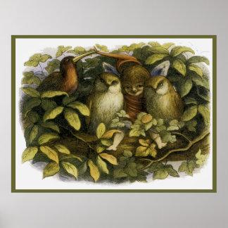 """""""Hada con los búhos"""" por Doyle - impresión Poster"""