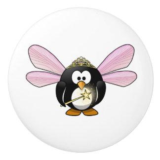 Hada de cerámica del botón/del pingüino pomo de cerámica