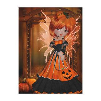 Hada de Halloween Lona Envuelta Para Galerías