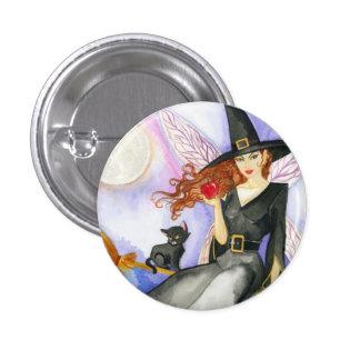 Hada de Halloween Pin Redondo De 1 Pulgada