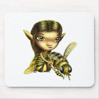 Hada de la abeja alfombrilla de ratón