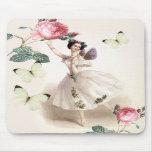 Hada de la bailarina alfombrillas de raton