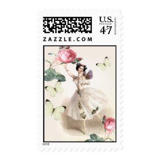 Hada de la bailarina sello postal