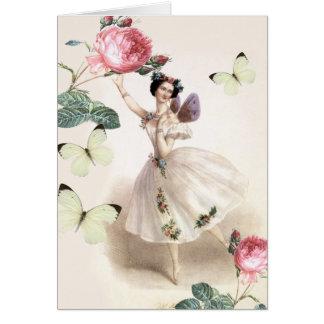 Hada de la bailarina tarjeta de felicitación