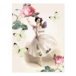 Hada de la bailarina tarjeta postal