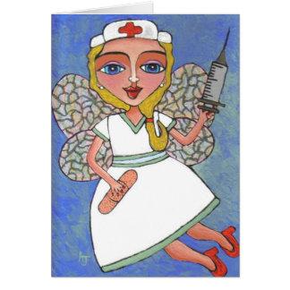 Hada de la enfermera - tarjeta de felicitación