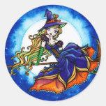 Hada de la fantasía de Halloween de la bruja de Etiqueta Redonda