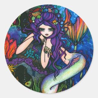 Hada de la fantasía de la sirena de Shannon Etiqueta