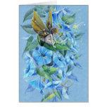 Hada de la flor de la gloria de la tarde tarjeta