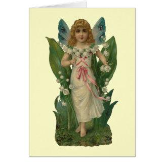 Hada de la flor del lirio de los valles tarjeta pequeña