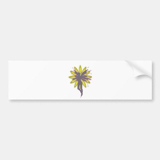 Hada de la flor pegatina de parachoque
