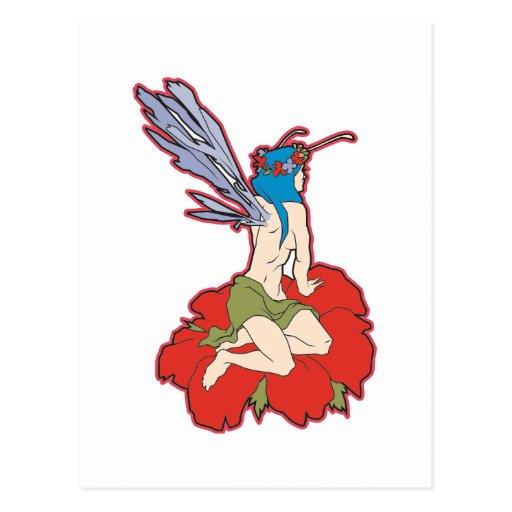Hada de la flor postal