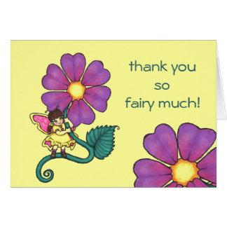 Hada de la flor tarjeta de felicitación