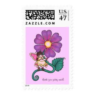Hada de la flor timbre postal