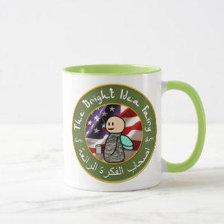 Hada de la idea/taza de café brillantes del club
