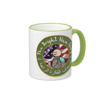 Hada de la idea/taza de café brillantes del club taza de dos colores