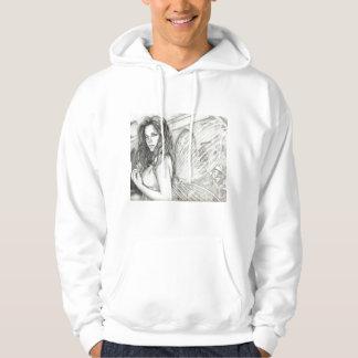 Hada de la lila suéter con capucha