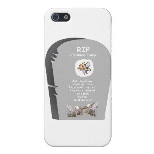 Hada de la limpieza del RASGÓN iPhone 5 Fundas