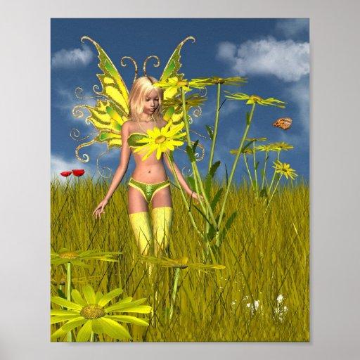 Hada de la maravilla de maíz en un campo del veran posters
