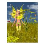 Hada de la maravilla de maíz en un campo del veran postales