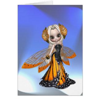 Hada de la mariposa de monarca felicitaciones