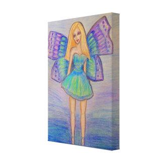 Hada de la mariposa lienzo envuelto para galerías