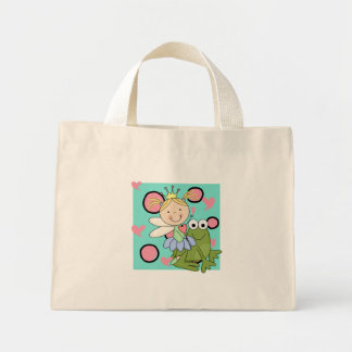 Hada de la rana hacia fuera para las camisetas y bolsa tela pequeña