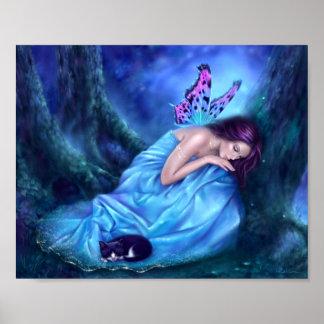 Hada de la serenidad y impresión durmientes del póster