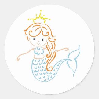 Hada de la sirena etiqueta
