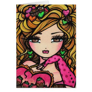 Hada de la tarjeta del día de San Valentín de la