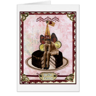 Hada de la torta tarjeta de felicitación