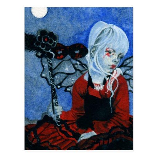 Hada de medianoche de la mascarada tarjetas postales