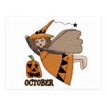 Hada de octubre postal