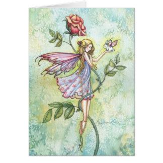 Hada de Pascua y tarjeta del conejito por Molly Ha