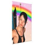 Hada debajo del arco iris lona envuelta para galerias
