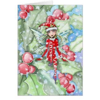 Hada del acebo de la tarjeta de Navidad por Molly