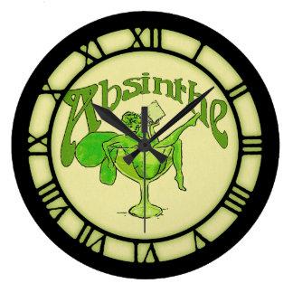 Hada del ajenjo en vidrio relojes de pared