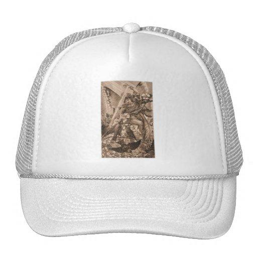 Hada del ángel de la sepia gorras