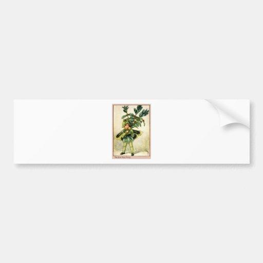 Hada del árbol de la caja pegatina de parachoque