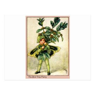 Hada del árbol de la caja tarjetas postales