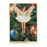 Hada del árbol de navidad tarjetas postales