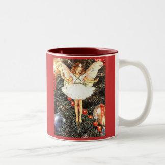 Hada del árbol de navidad taza de café