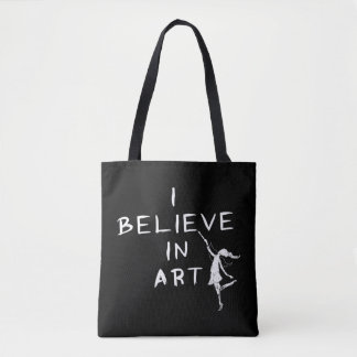 Hada del arte: Creo en arte Bolsa De Tela