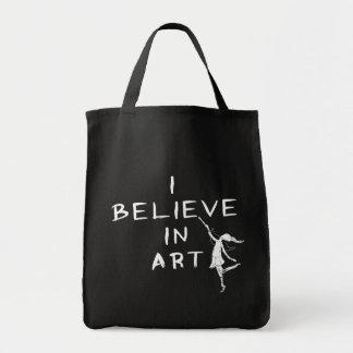 Hada del arte: Creo en arte Bolsa Tela Para La Compra